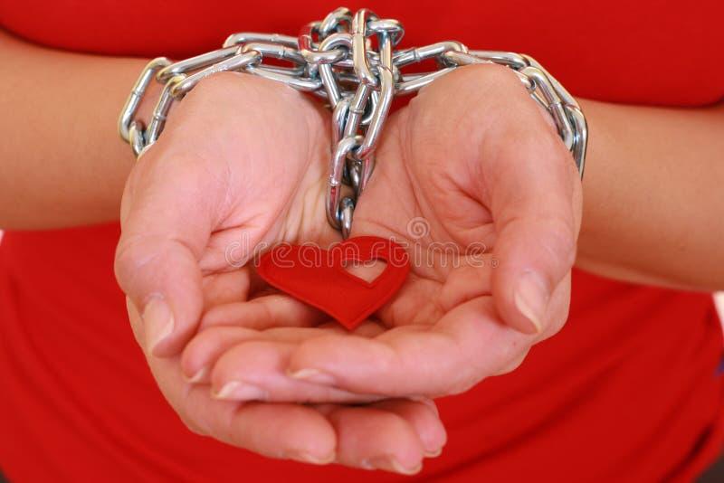 Gevangene van liefde royalty-vrije stock foto