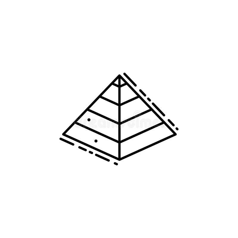 Gevangenen aan het pictogram van Egypte Element van Joods pictogram voor mobiel concept en Web apps De dunne lijngevangenen aan h royalty-vrije illustratie