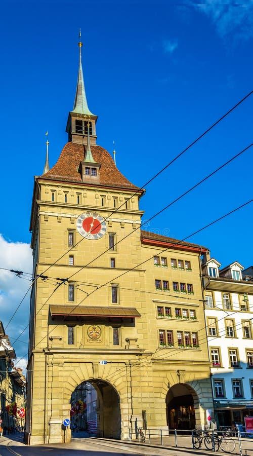 Gevangenetoren (Kafigturm) in Bern stock afbeelding