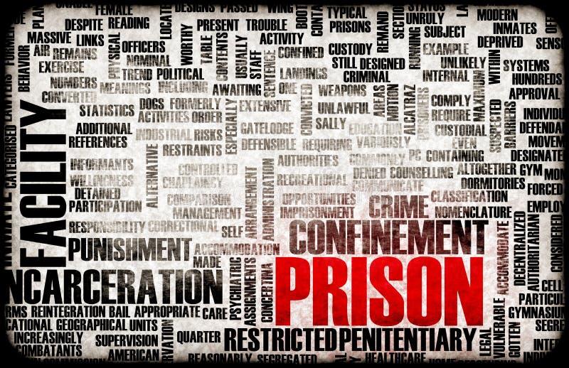Gevangenis stock illustratie