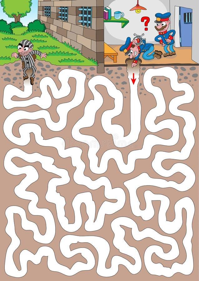 gevangenis royalty-vrije illustratie