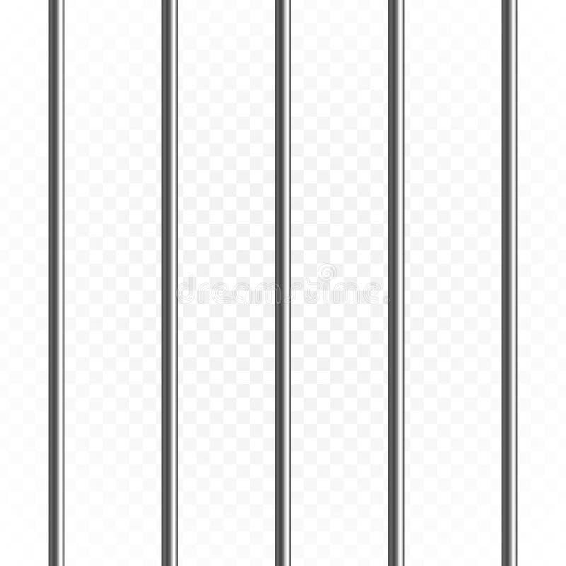 Gevangenis of gevangenisbars stock illustratie