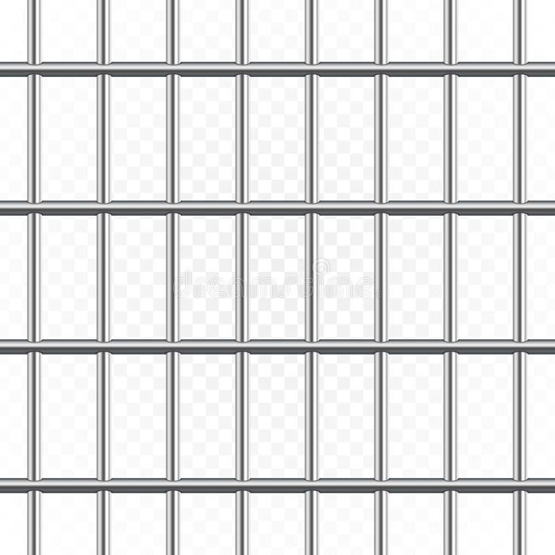 Gevangenis of gevangenisbars vector illustratie
