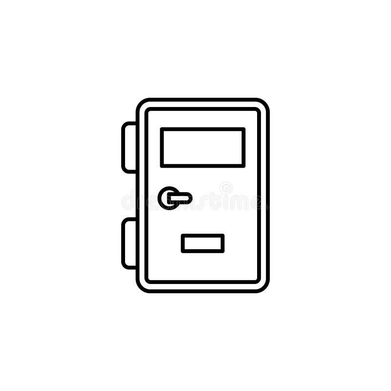 Gevangenis, slot, deurpictogram Element van wet en rechtvaardigheidspictogram Dun lijnpictogram voor websiteontwerp en ontwikkeli vector illustratie