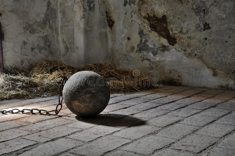Gevangenisbal stock foto's