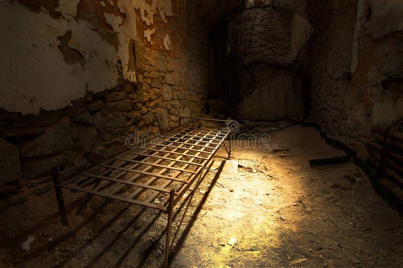 Gevangeniscel stock afbeelding