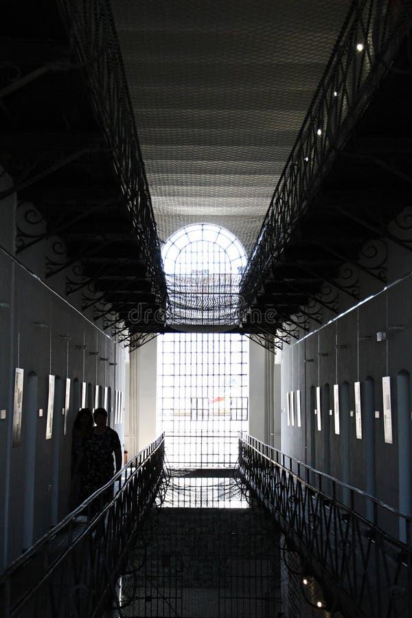 Gevangeniscellen bij het Gedenkteken van de Slachtoffers van Communisme en van de Weerstand stock afbeeldingen