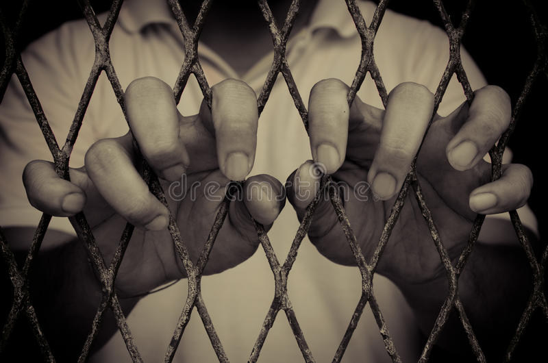 Gevangenismens royalty-vrije stock fotografie