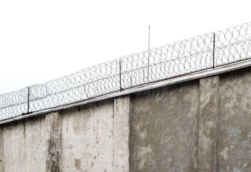 Gevangenismuur stock fotografie
