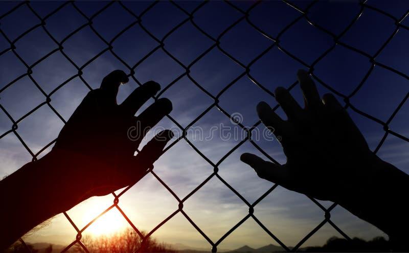 Gevangenisomheining royalty-vrije stock foto