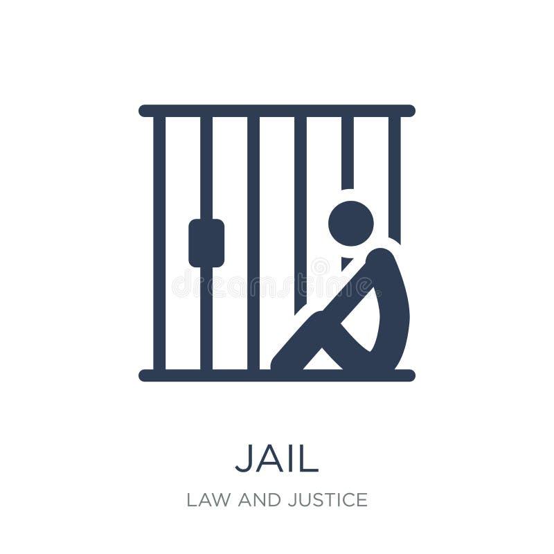 Gevangenispictogram  stock illustratie