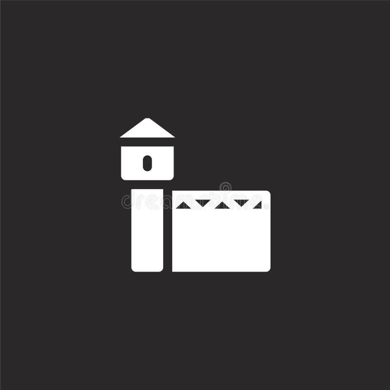 Gevangenispictogram Gevuld gevangenispictogram voor websiteontwerp en mobiel, app ontwikkeling gevangenispictogram van gevulde st royalty-vrije illustratie