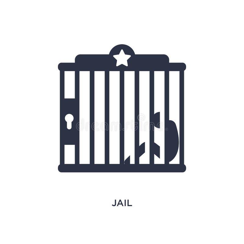 Gevangenispictogram op witte achtergrond Eenvoudige elementenillustratie van wild het westenconcept vector illustratie