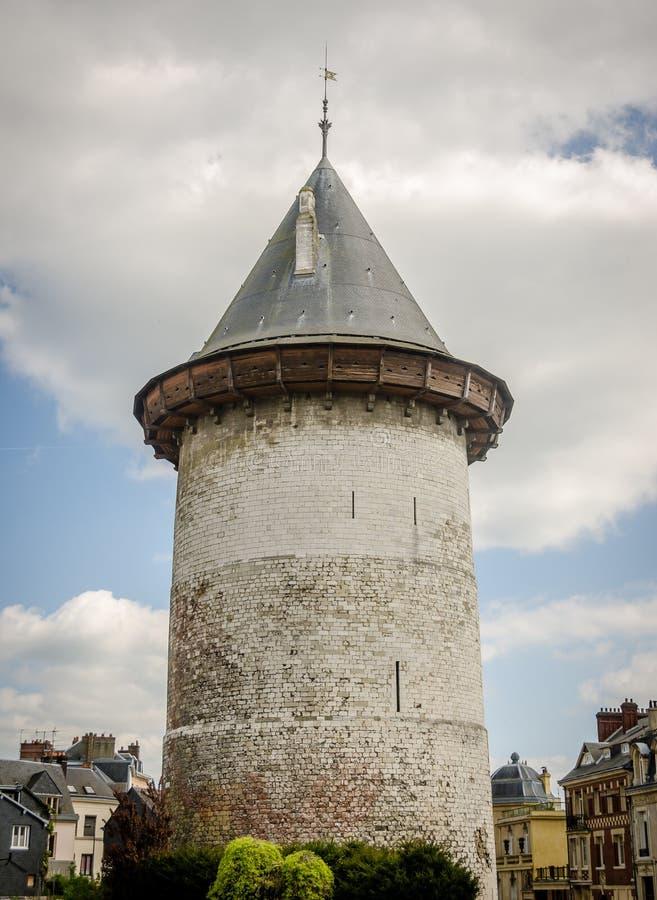 Gevangenistoren Jeanne Joan van Boog in Rouen stock fotografie