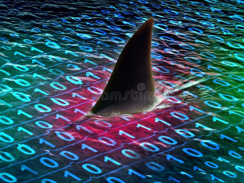 Gevaren van digitale informatie stock illustratie