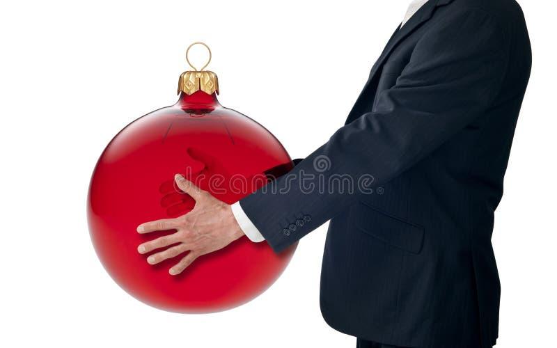 Geven het bedrijfs van Kerstmis stock afbeelding