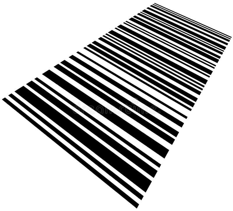 Geverdrehte Barcode-Hintergrund-Makronahaufnahme getrennt stockbilder
