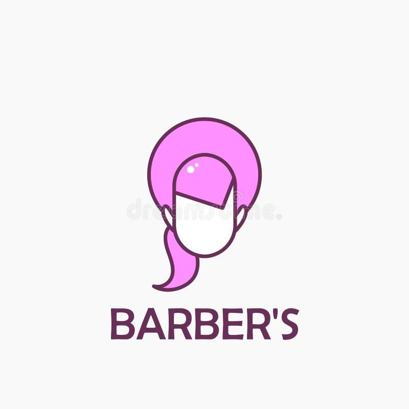 Geverft haarembleem stock illustratie