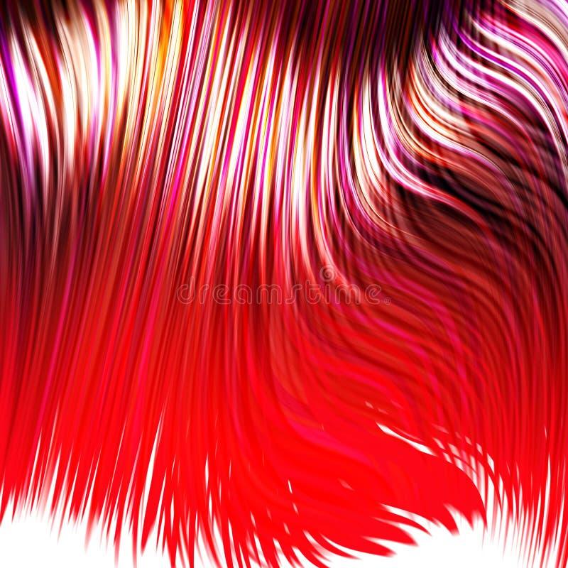 Geverft rood haar stock illustratie