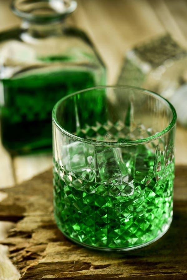Geverfte groene whisky stock fotografie