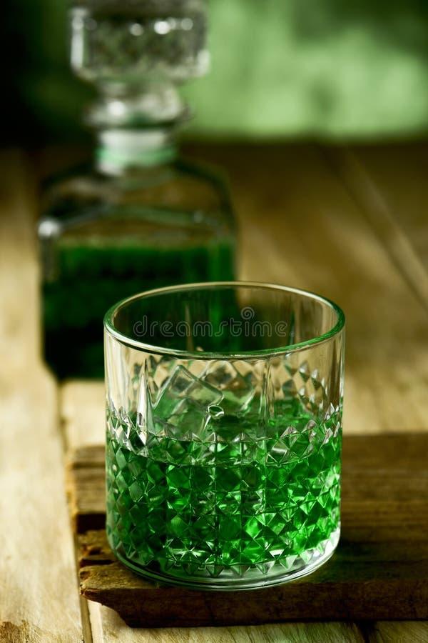 Geverfte groene whisky royalty-vrije stock foto