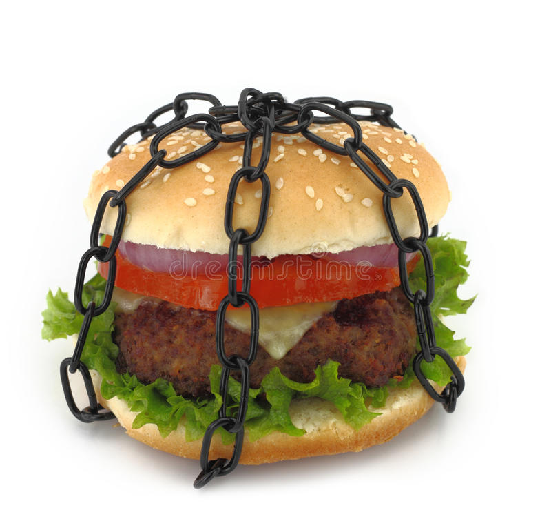 Geverketteter Burger lizenzfreies stockbild