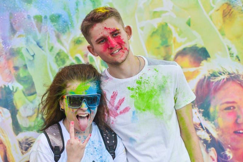 Gevierd als festival van kleuren stock foto