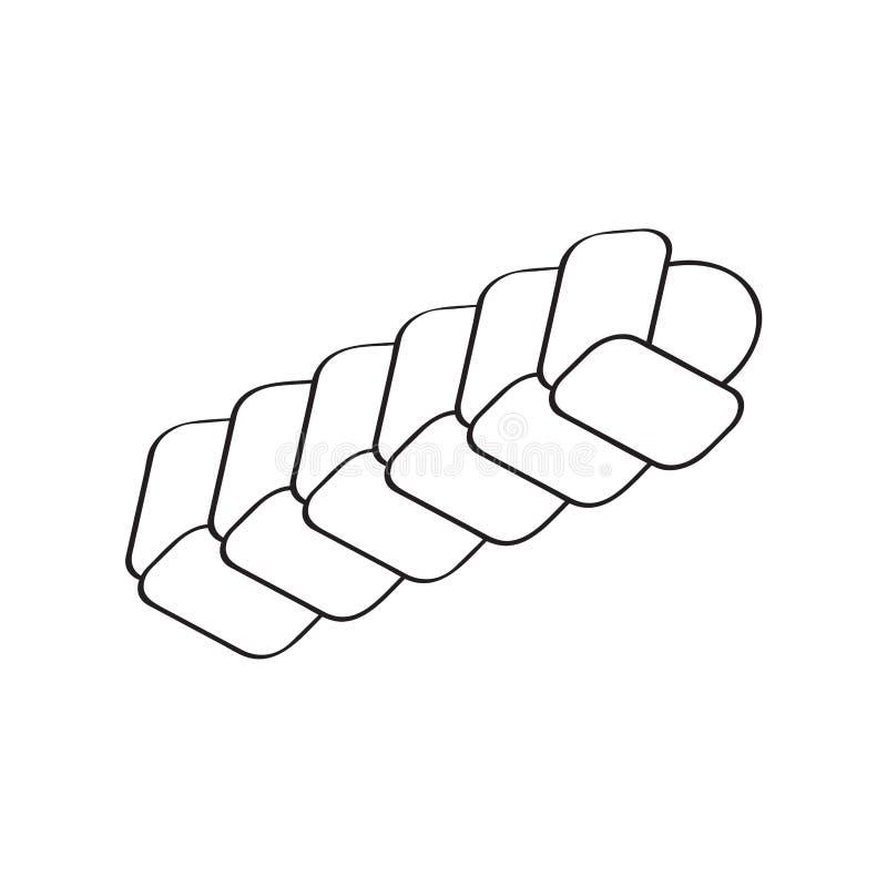 Gevlecht broodpictogram vector illustratie