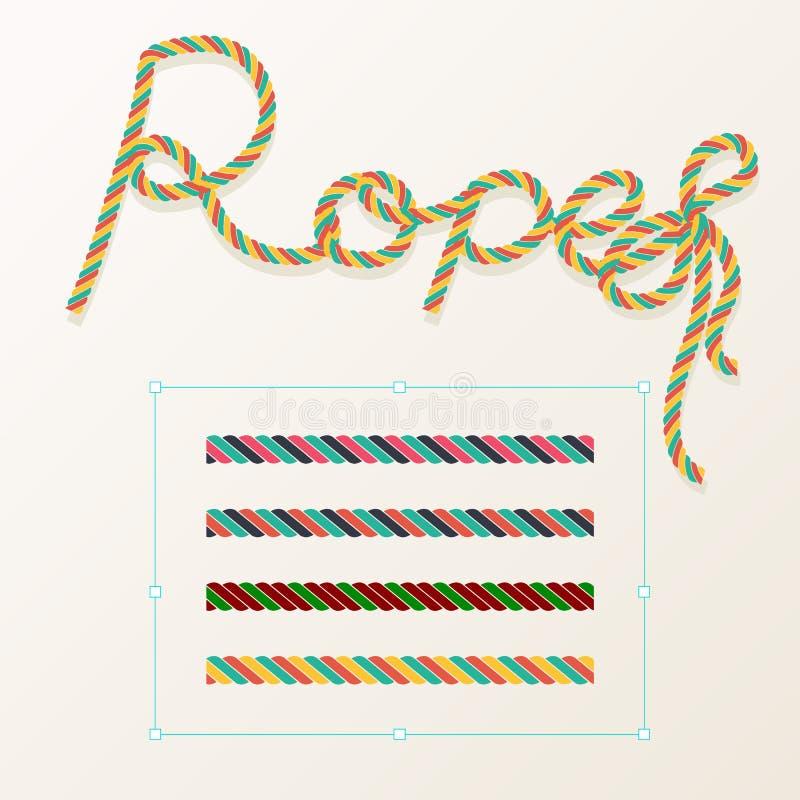 Gevlecht kabelpatroon naadloos voor decoratieontwerp Kabelborstel voor illustrator Gemakkelijk zich te gebruiken en te wijzigen vector illustratie