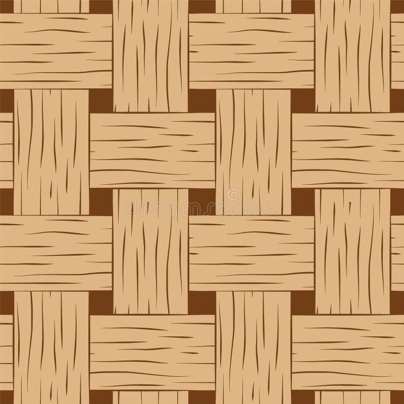 Gevlecht naadloos patroon Het bruine en beige vierkante beeld van de mandtextuur voor achtergrond royalty-vrije illustratie