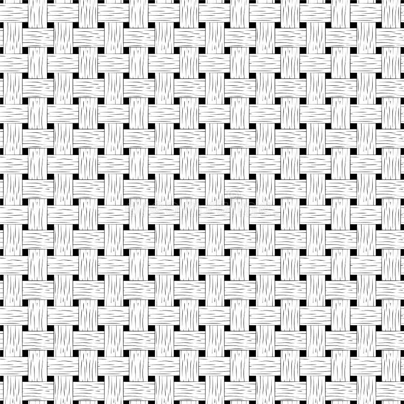 Gevlecht naadloos patroon Houten gevlechte textuur stock illustratie