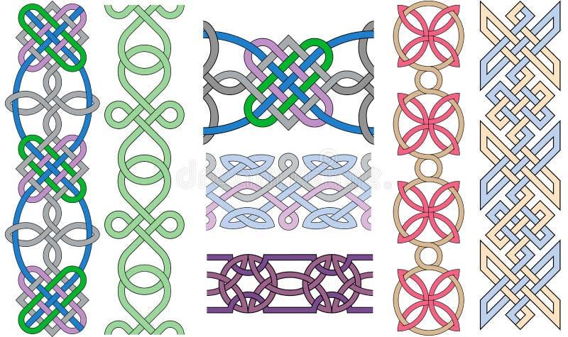 Gevlechte patronen stock illustratie
