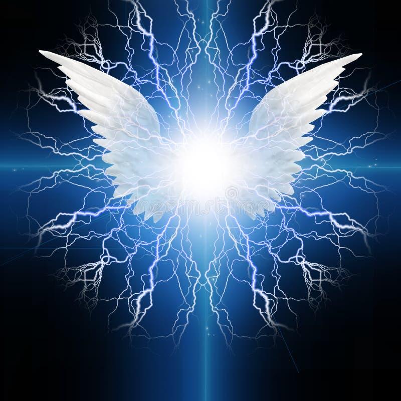 Gevleugelde engel stock illustratie