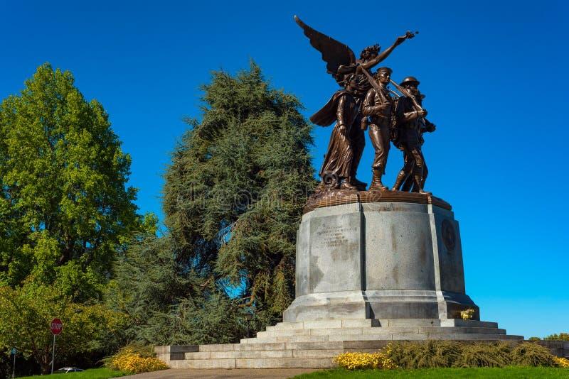 Gevleugelde Victory Monument stock foto's