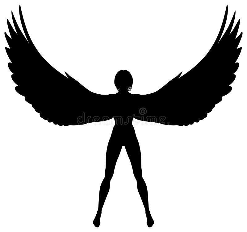 Gevleugelde vrouw vector illustratie