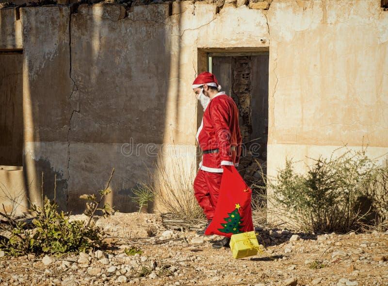 Gevoede omhoog Kerstman stock fotografie