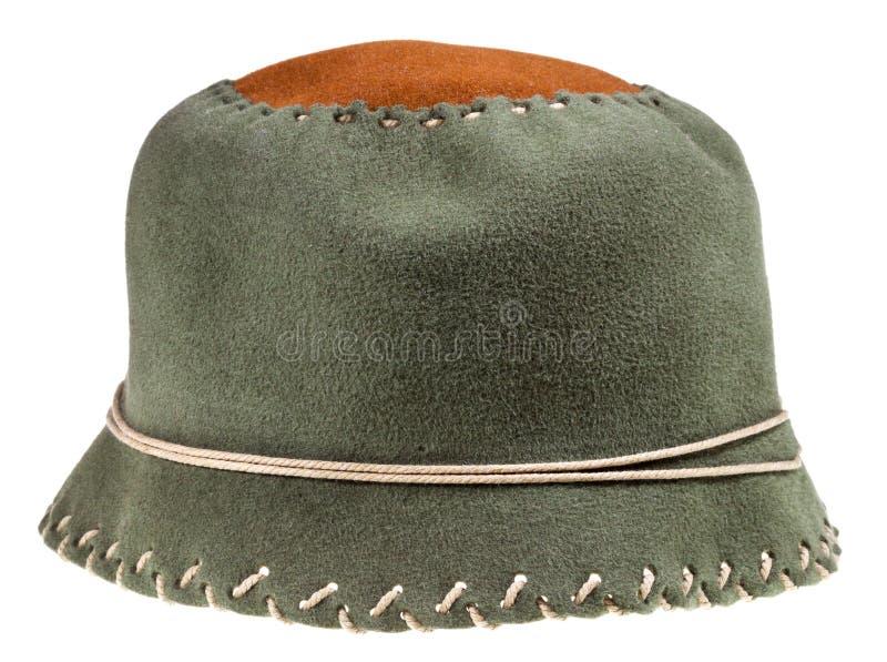 Gevoelde groene zachte glazen kaphoed royalty-vrije stock fotografie
