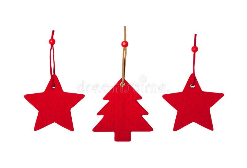 Gevoelde Kerstmisdecoratie royalty-vrije stock foto's