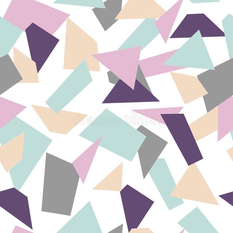 Gevoelig naadloos mozaïekpatroon Mozaïekvormen stock illustratie