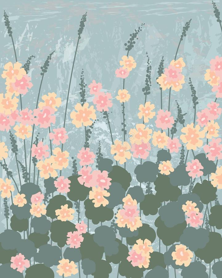 gevoelige bloemen tegen de blauwe hemel stock afbeelding
