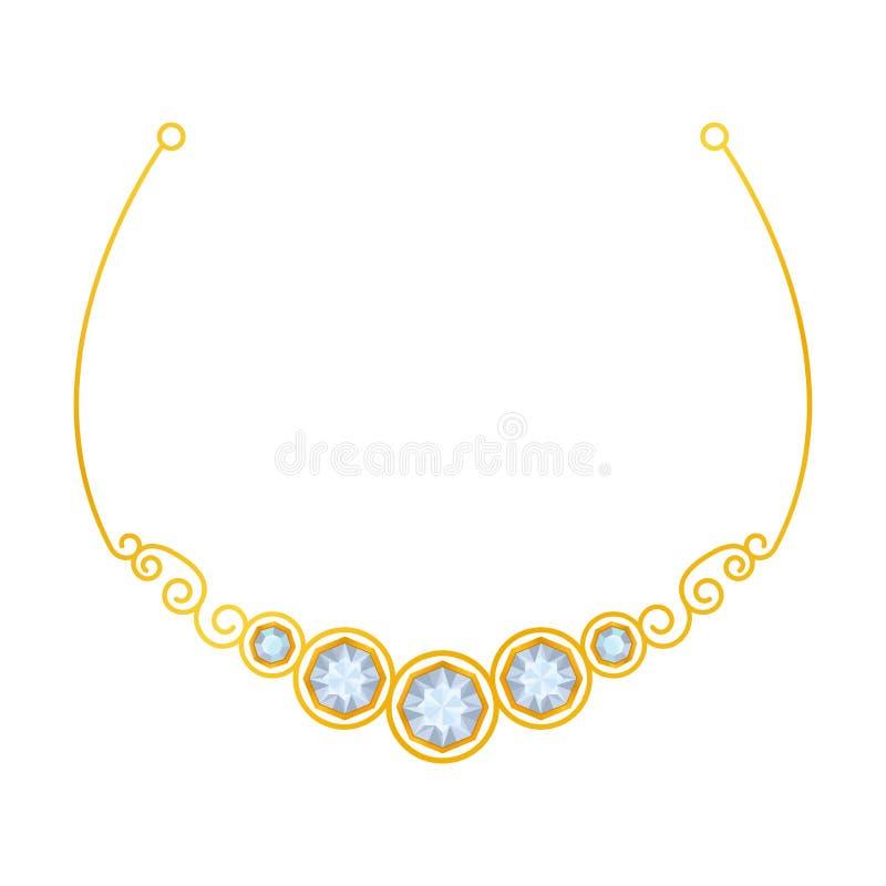 Gevoelige elegante halsband met krommingen Vector illustratie op witte achtergrond stock illustratie