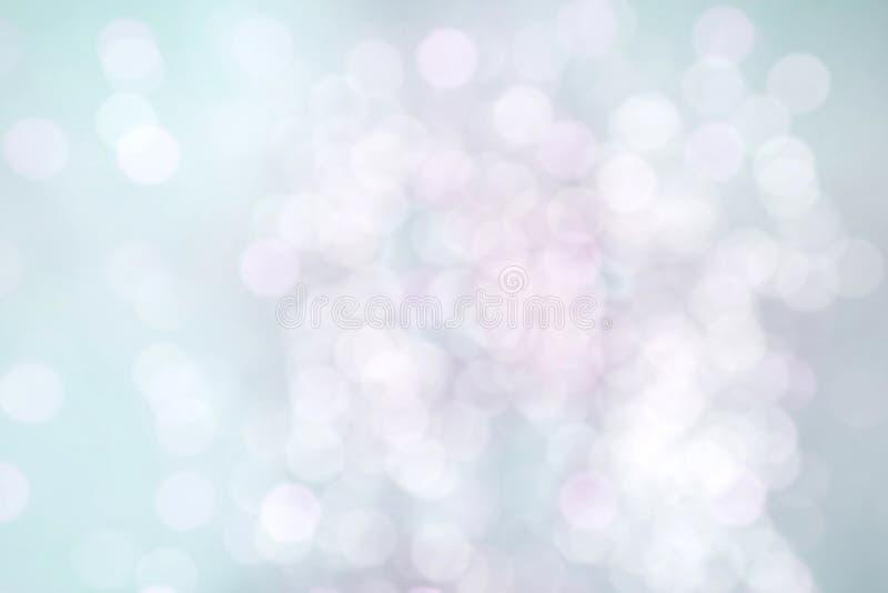 Gevoelige Mooie Turkooise Roze Achtergrond met bokeh royalty-vrije stock fotografie