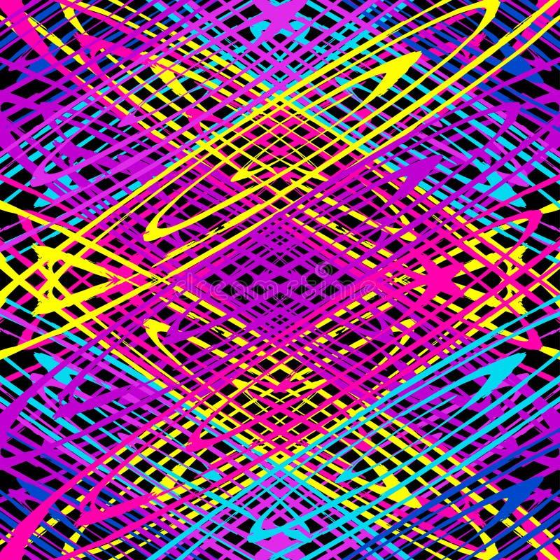 Gevoelige rassenbarrières op een zwarte achtergrond vector illustratie