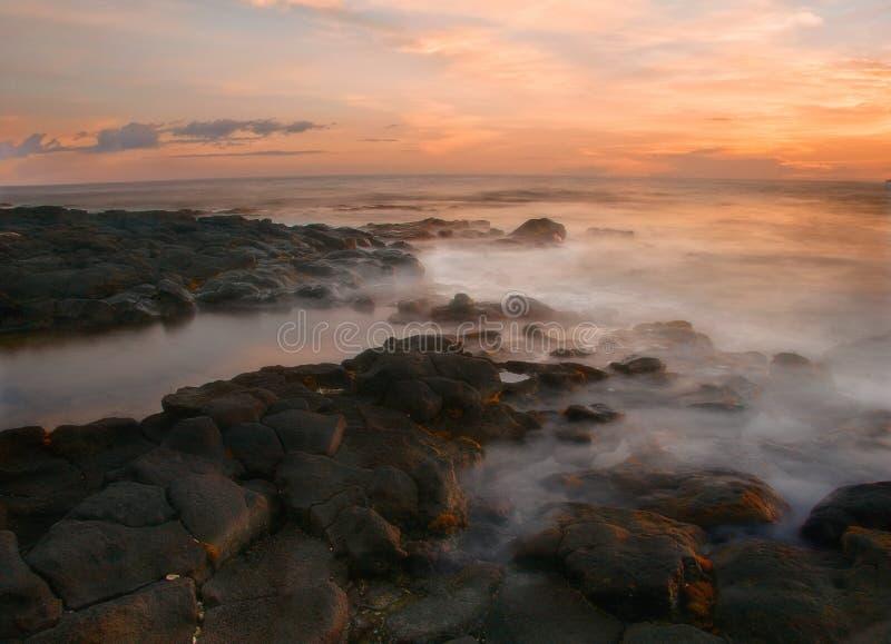 Gevoelige zonsondergang van Hawaï royalty-vrije stock fotografie
