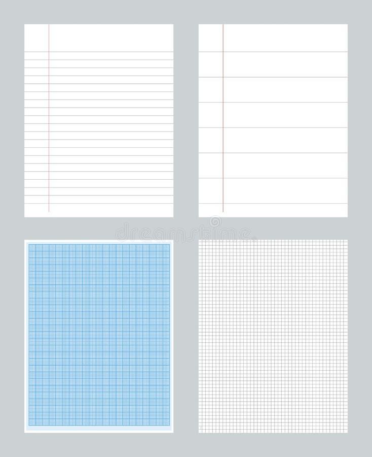 Gevoerde notitieboekjedocumenten vector illustratie