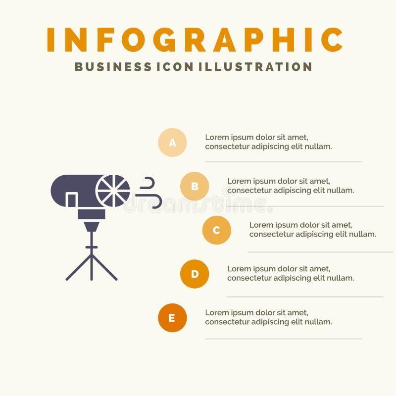 Gevolgen, Foto, Fotografisch, Speciaal Stevig Pictogram Infographics 5 de Achtergrond van de Stappenpresentatie royalty-vrije illustratie