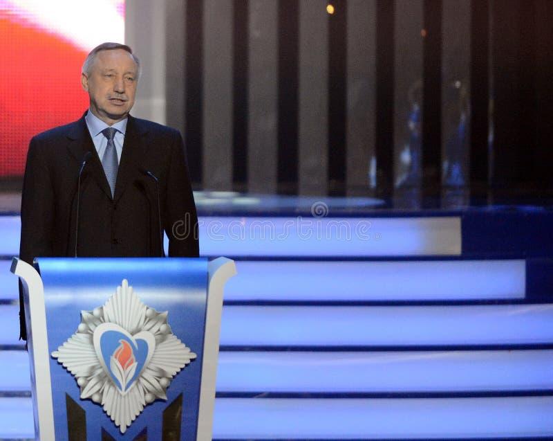 Gevolmachtigde representatief voor de Voorzitter van de Russische Federatie in het Centrale Federale district Alexander Beglov bi stock afbeelding