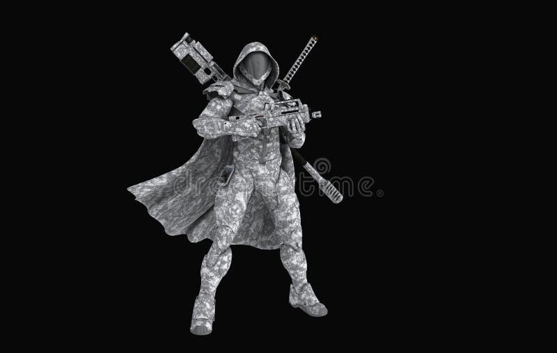 Gevorderde super militair stock illustratie