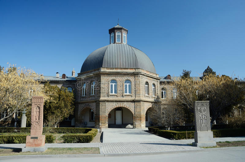 Gevorkian Theological Seminary of St. Echmiadzin,Armenia royalty free stock photography