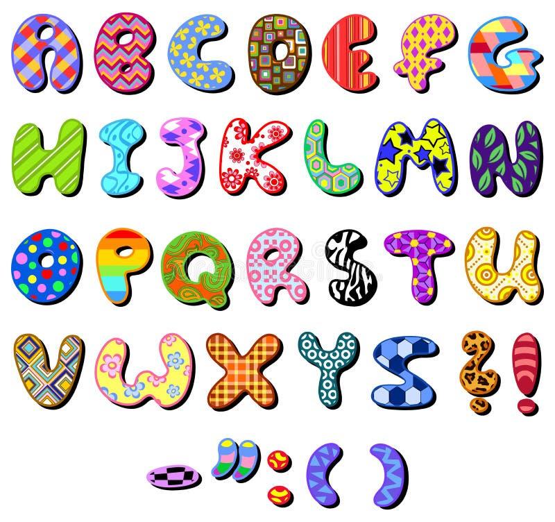 Gevormd alfabet royalty-vrije illustratie